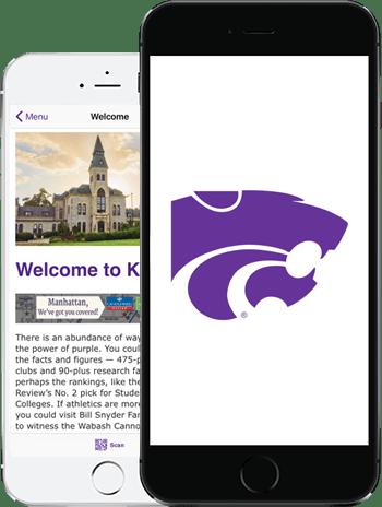 Visit KST App on 2 iPhones