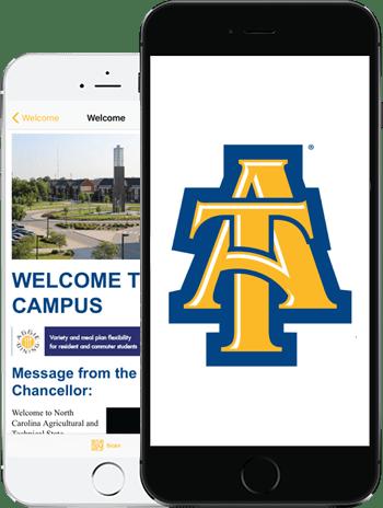 Visit NCAT App on 2 iPhones
