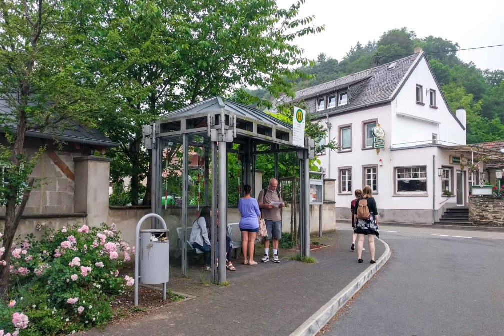 The 330 bus stop to Eltz