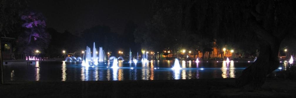 Plovdiv fountain light show