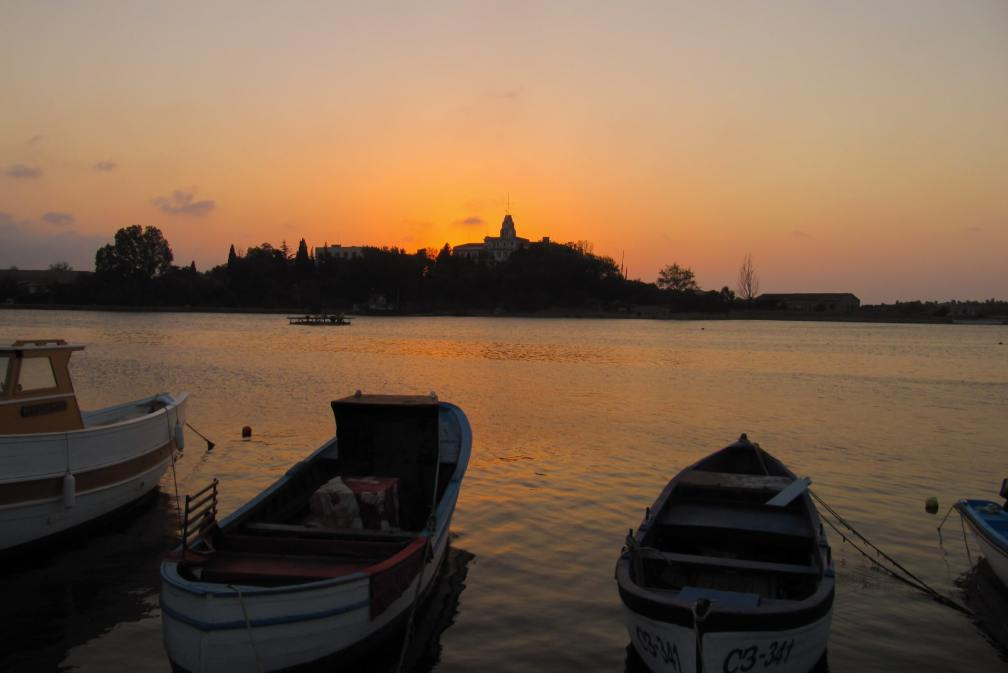 sozopol harbour sunset