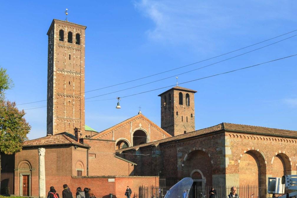 Базилика Сант-Амброджо Милан за один день Как посетить Милан за один день? milan basilica sant ambrogio