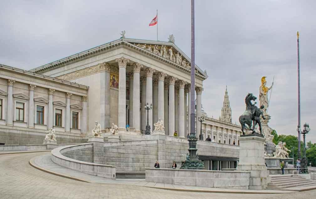 Здание австрийского парламента Венский маршрут Венский маршрут vienna austrian parliament building