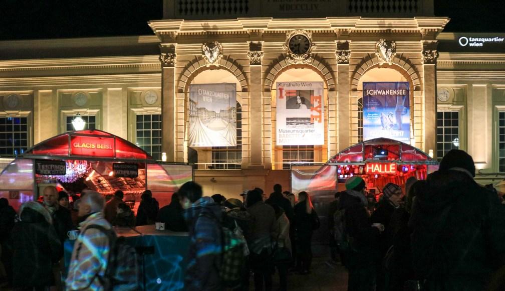 Зима в Музейном квартале  рождественские рынки в Вене Лучшие рождественские рынки в Вене vienna winter museumsquartier
