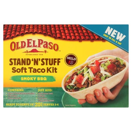 Old El Paso Smokey Bbq S&S Soft Taco Kit 350G