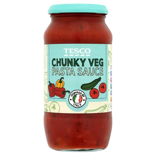 Tesco Chunky Vegetable Pasta Sauce 500g My Vegan Supermarket