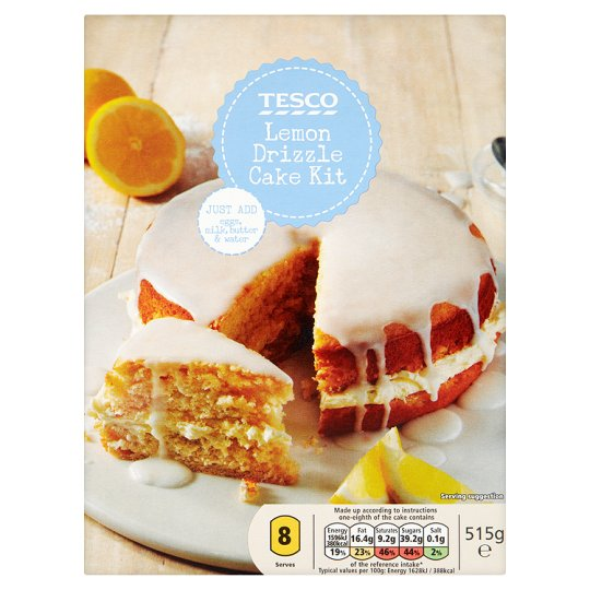 Tesco Lemon Drizzle Cake Mix 510g My Vegan Supermarket