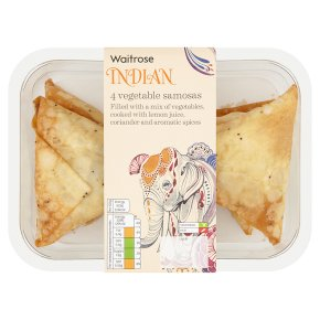 Waitrose 4 vegetable samosas 232g