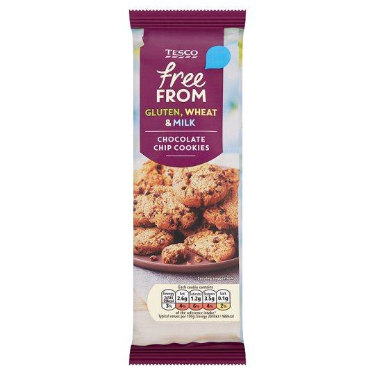 Tesco Free From Chocolate Chip Cookie Dairy Free 145g My