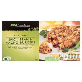 ASDA Vegetarian Spicy Bean & Nacho Burgers