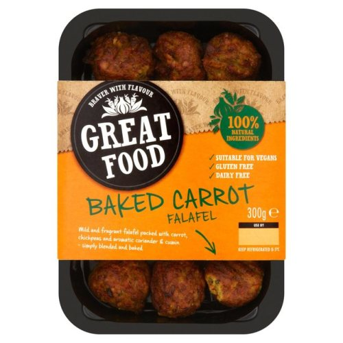 Great Food Baked Carrot Falafel 300g