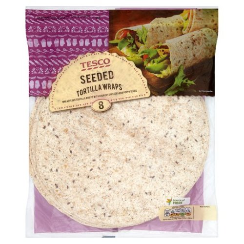 Tesco 8 Seeded Tortilla Wraps