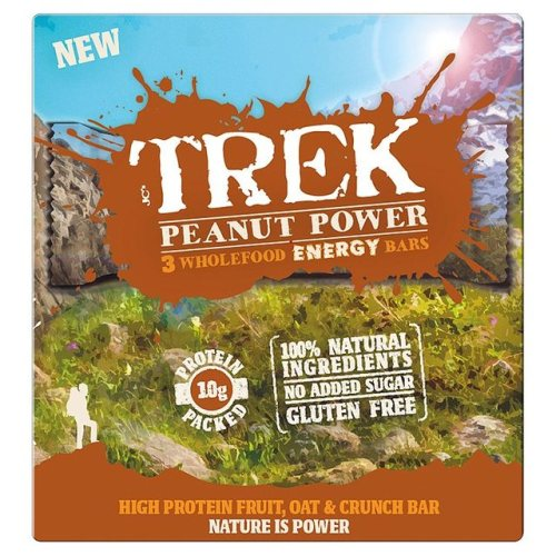 Trek Peanut Power Wholefood Energy Bars 3 Pack 165g
