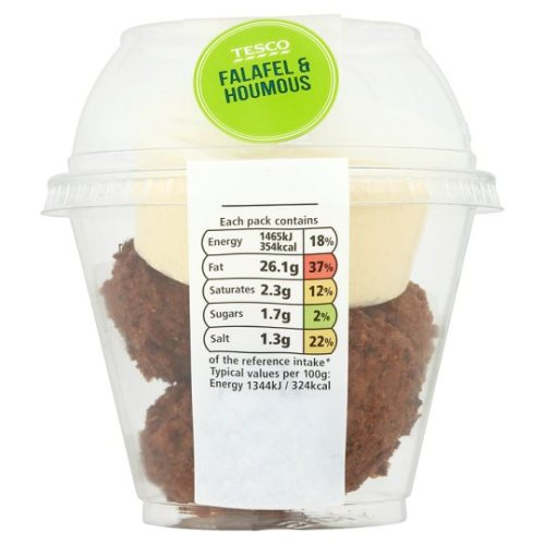 Tesco Falafel And Houmous Snack Pot 106G
