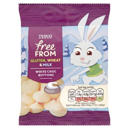 Free From White Chocolate Buttons 25G
