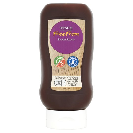 Tesco Free From Brown Sauce 450g My Vegan Supermarket