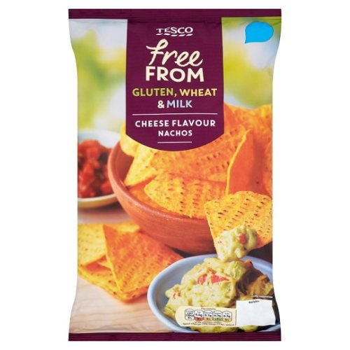 Tesco Free From Cheese Flavour Nachos 200G