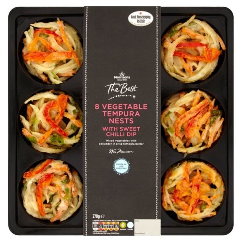 Morrisons The Best Vegetable Tempura Nests With Sweet Chilli Dip 270g