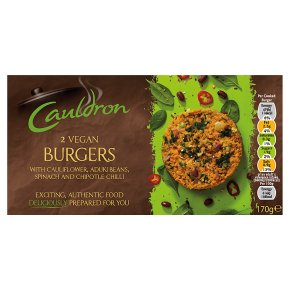 Cauldron 2 Vegan Burgers 170g