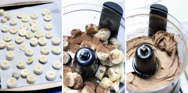 chocolate banana vegan ice cream