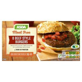 ASDA Meat Free 8 Beef Style Burgers