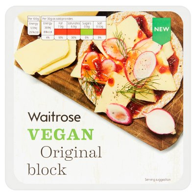 Waitrose Vegan Original Block 200g My Vegan Supermarket
