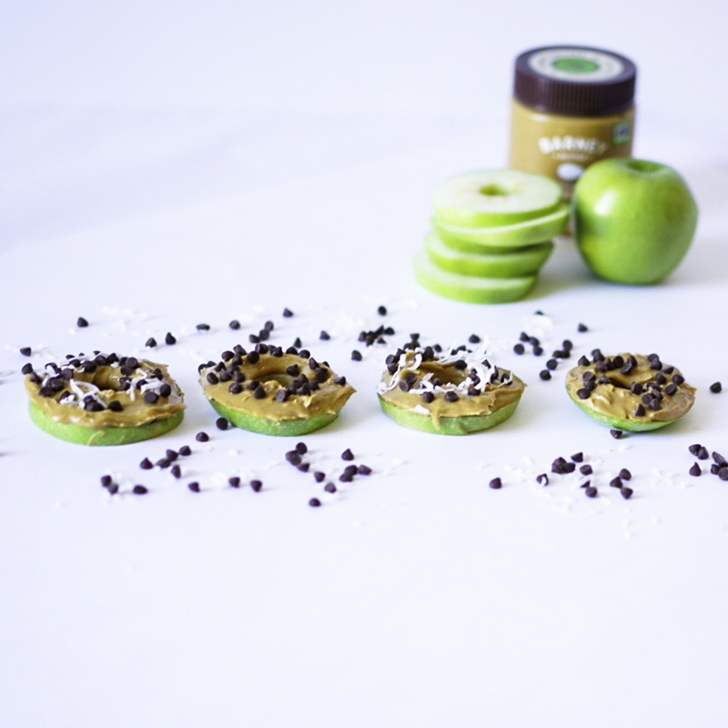 Apple Slices With Almond Butter and toppings Vegan Gluten Free #myvegetarianfamily