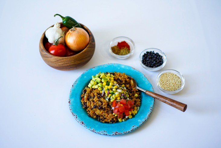 Mexican Black Bean Quinoa Easy One Pot Vegan Gluten Free