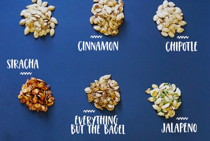 9 flavors of roasted pumpkin seeds