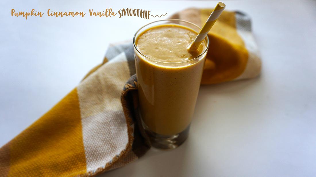 pumpkin siggis vanilla yogurt smoothie