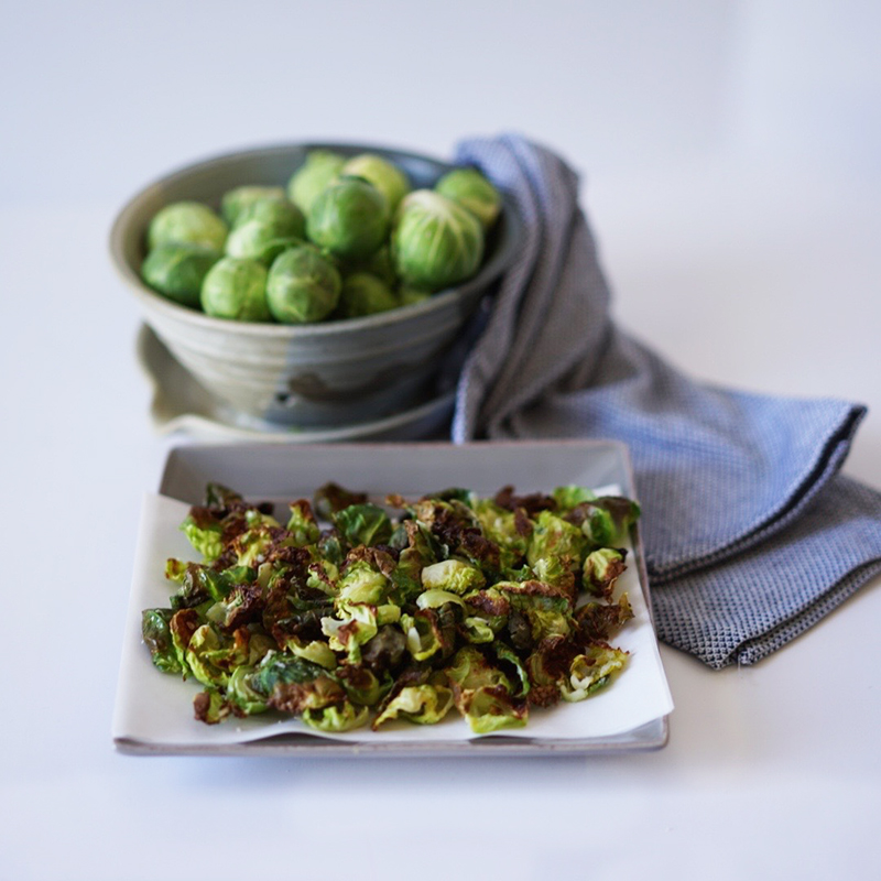 Baked Brussel Sprout Chips Easy GF Vegan Snack copy
