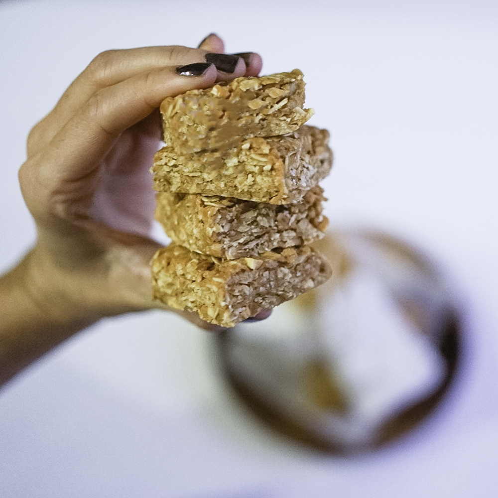 Homemade Peanut Butter Granola Bars with Oats