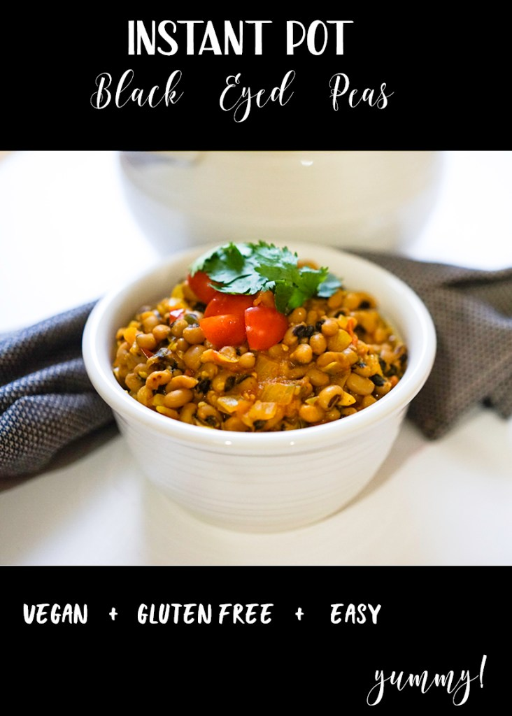 Instant Pot Black Eyed Peas #myvegetarianfamily