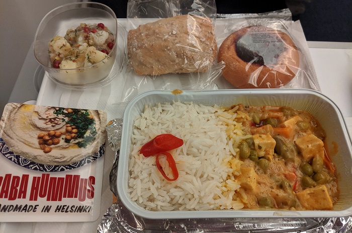 Finnair vegan lunch