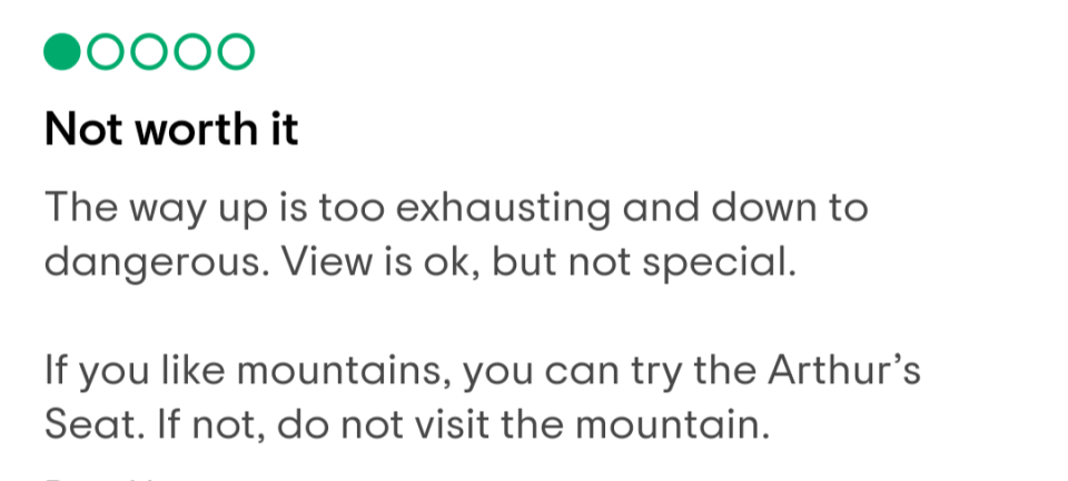 arthurs seat is not a mountain
