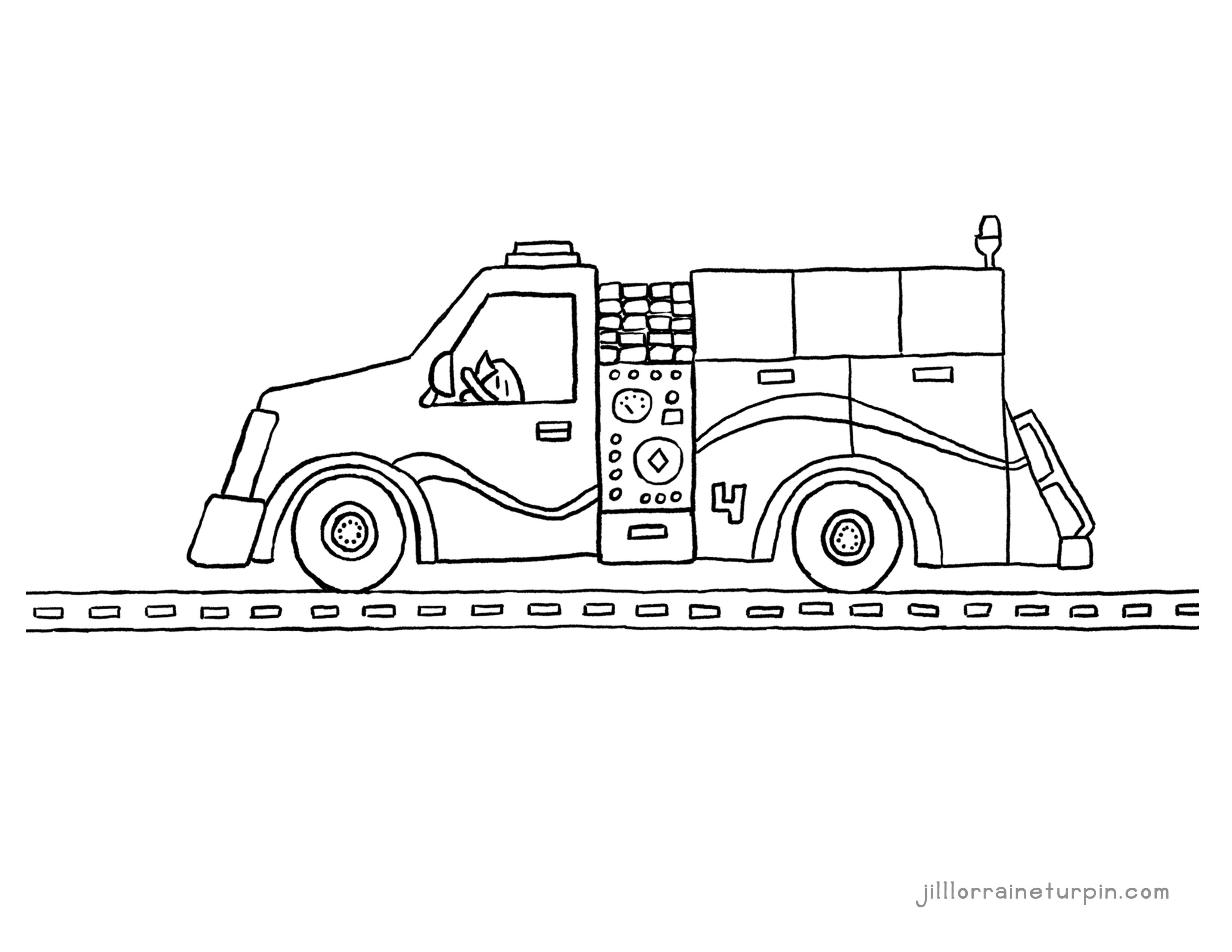 Free Printable Fire Truck Coloring Pages My Very Own Fire Truck