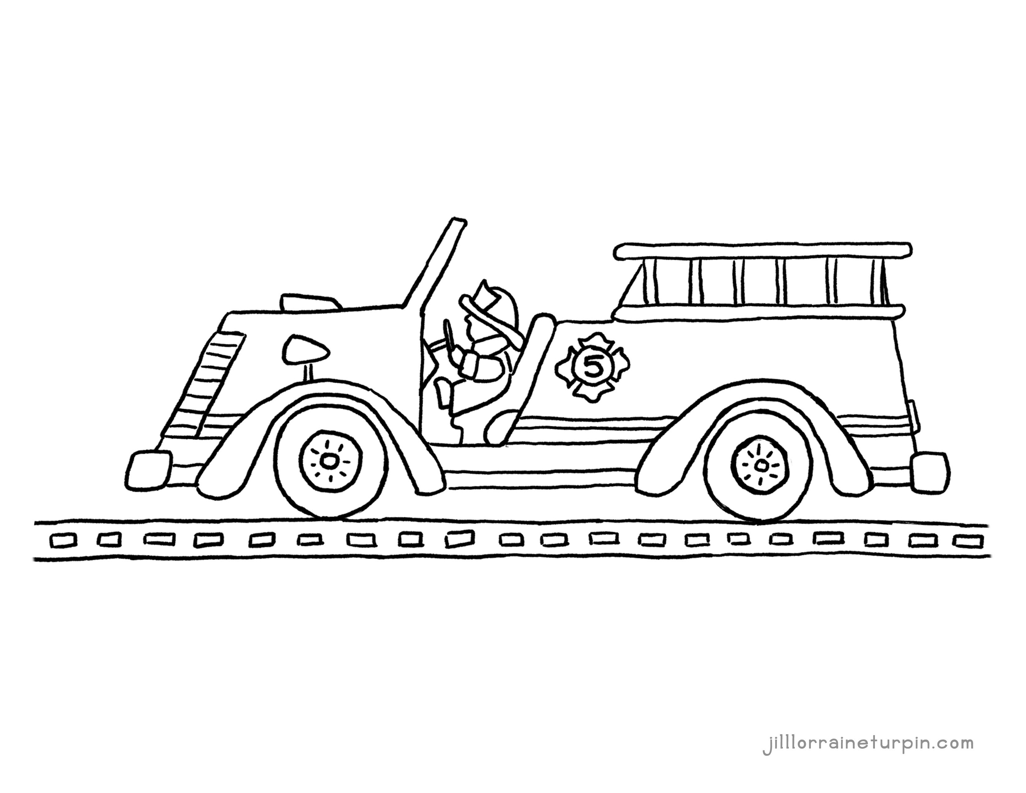 Coloring Pages My Very Own Fire Truck