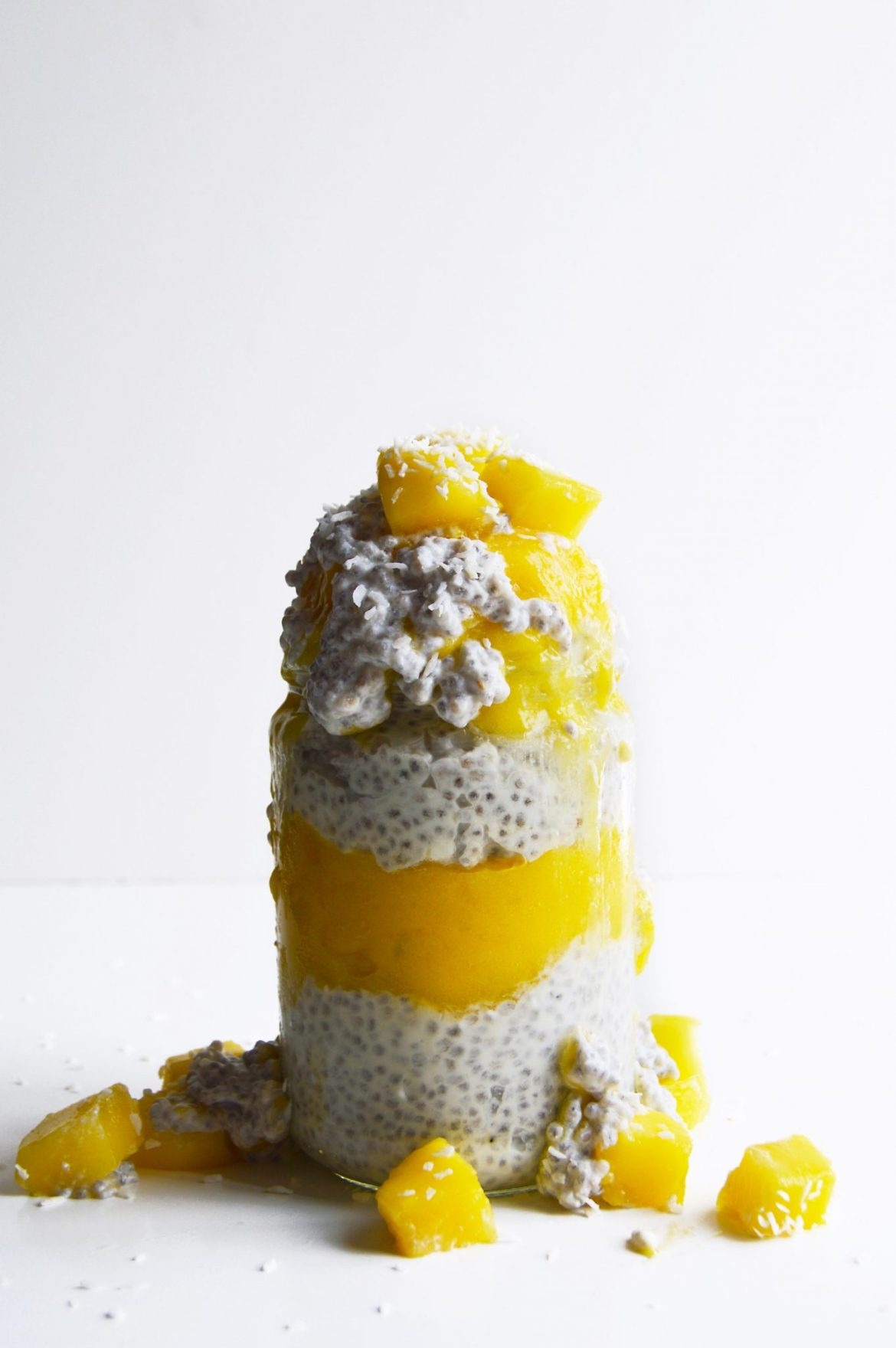 Vegan Mango Coconut Chia Pudding
