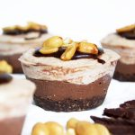 Vegan Chocolate & Peanut Butter Cheesecake Cups