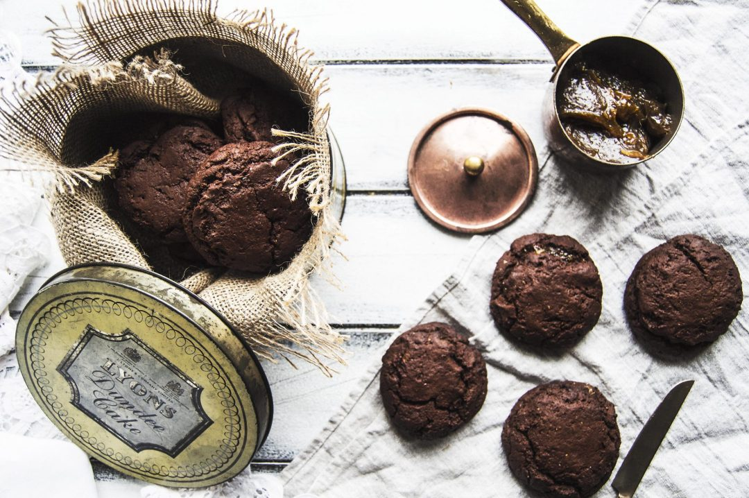 Salted Caramel Stuffed Chocolate Fudge Cookies