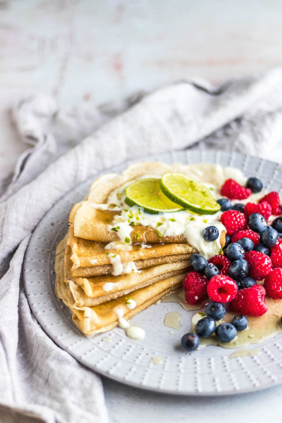 Vegan Crepes With Zingy Lime Syrup