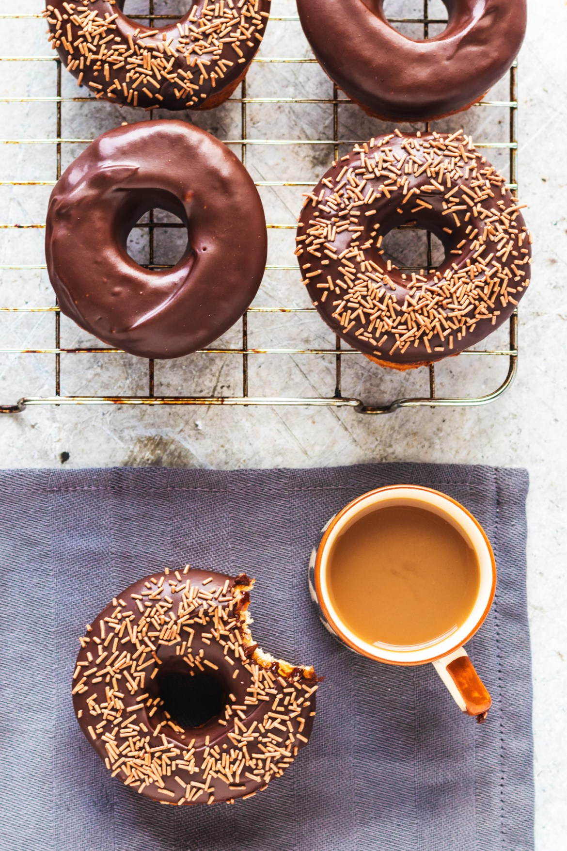 Vegan Chocolate Glazed Donuts