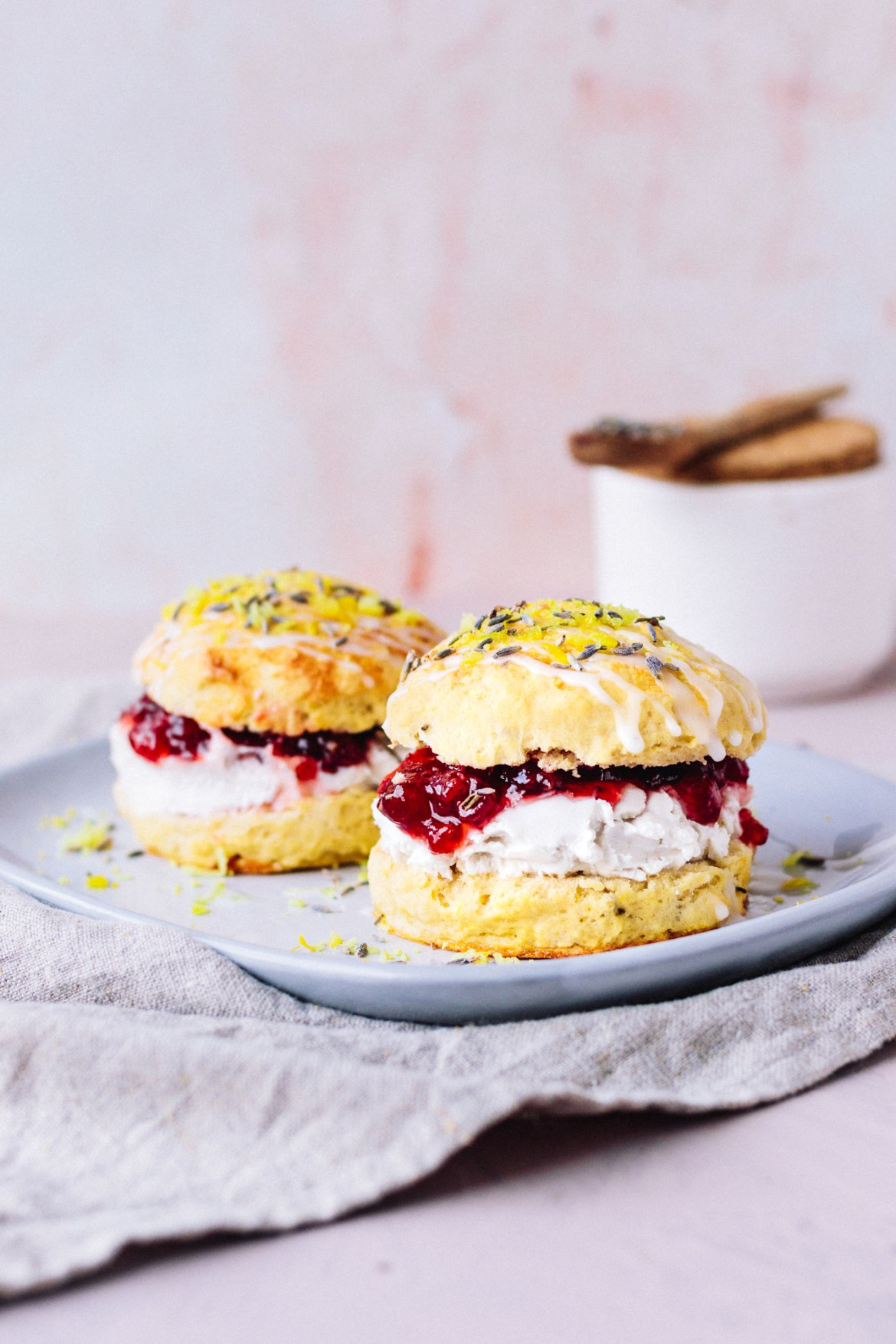 Vegan Lavender Lemon Scones