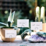 DIY Crystal Place Card Or Food Label Holders