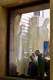 Reflective window art.