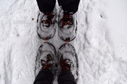 My first time snowshoeing.