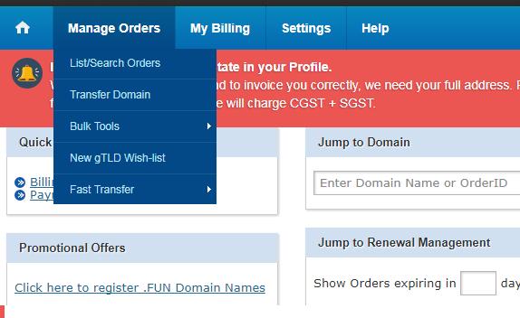manage order bigrock