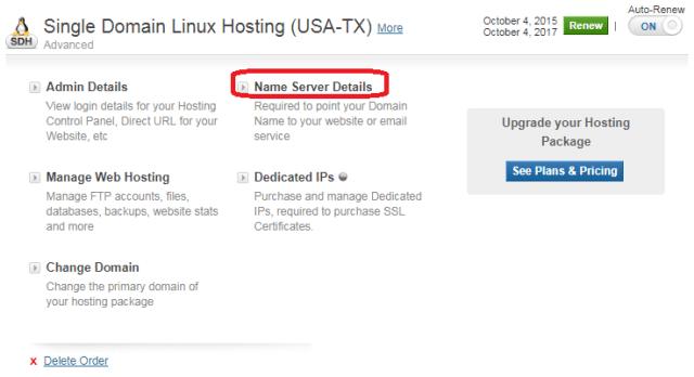 manage web hosting bigrock-DNS