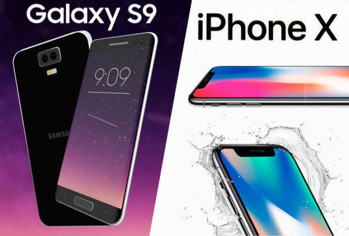 Galaxy S9 vs iPhone X Comparison