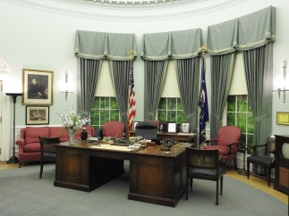 A replica of the Oval Office as it looked when Harry Truman was President...